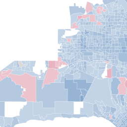 Map How Los Angeles County voted 2012 election Los Angeles Times